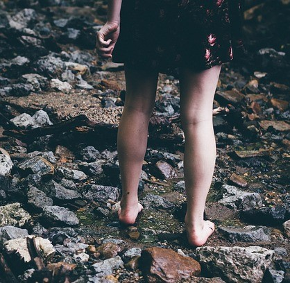blote voeten pad